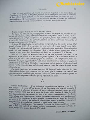 CARTULAIRE DE L'ABBAYE DE SAINT-CORNEILLE DE COMPIÈGNE. ------- Tome 3 ( 1261-1383 ),: ...