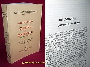 Girondins et Montagnards ( Actes du Colloque de la Sorbonne , 14 décembre 1975 ): SOBOUL ( ...