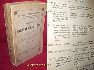 Recueil de Maximes et Citations latines à: JOUANNEAU ( A.
