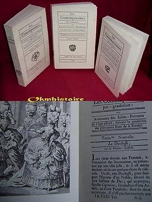 LES CONTEMPORAINES. ---------- 3 volumes / 3 : -- TOME 1 , ou Avantures des plus jolies femmes...