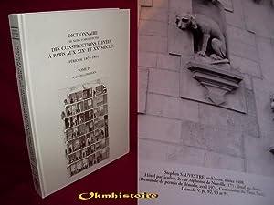Dictionnaire par noms d'architectes des constructions élevées à Paris aux...