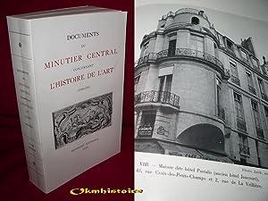 Documents du minutier central concernant l'Histoire de l'Art ( 1700-1750 ). -------- TOME...