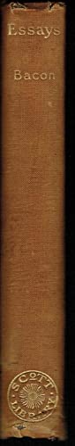 Essays and Apothegms of Francis, Lord Bacon: Francis, Lord Bacon (edited & with intro by John ...