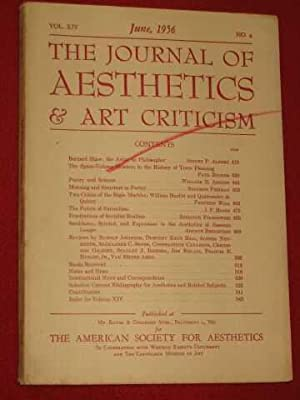 The Journal of Aesthetics & Art Criticism.: Munro, Thomas (editor)