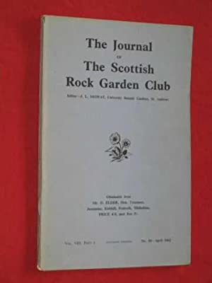 The Journal of The Scottish Rock Garden Club - Vol. VIII Part I - No.30 - April, 1962