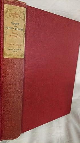 SECRET MEMOIRS OF PRINCESS LAMBALLE, BEING HER: PRINCESS LAMBALLE, EDITED
