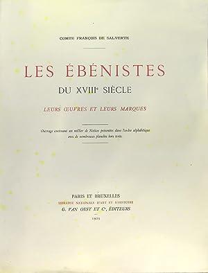 Les ébénistes du XVIIIè siècle - leurs: SALVERTE Comte François