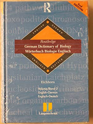 Routledge german dictionary of biology w rterbuch biologie for Dictionary englisch deutsch