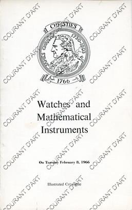 WATCHES AND MATHEMATICAL INSTRUMENTS. [TAMPION. PICKETT&RUNDELL. BREGUET. COURVOISIER. GRUNLER. ALLAN. GRIGNION. ROMILLY. RENOU. BAILLEY. MELLY. BERT