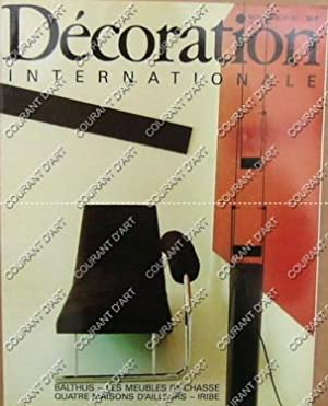 DECORATION INTERNATIONALE. N°66. NOVEMBRE 1983. BALTHUS. PAUL IRIBE. VENTE DE GODMERSHAM PARK ....