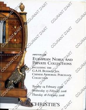 EUROPEAN NOBLE AND PRIVATE COLLECTIONS. INCLUDING THE