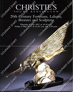 BRITISH AND CONTINENTAL FURNITURE FROM 1860 TO 1950. LALIQUE, 20TH CENTURY BRONZES AND SCULPTURE....