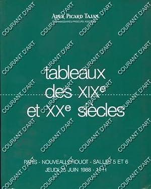 TABLEAUX DES XIXE ET XXE SIECLES. COLLECTION: NOUVEAU DROUOT. SALLE