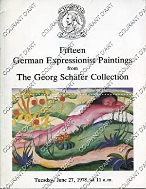 FIFTEEN GERMAN EXPRESSIONIST PAINTINGS FROM THE GEORG