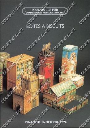 BOITES A BISCUITS. COLLECTION DE BOITES A: HOTEL DROUOT RICHELIEU