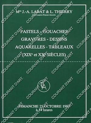 PASTELS-GOUACHES-GRAVURES-DESSINS-AQUARELLES-TABLEAUX XIXE ET XXE SIECLES . [GEN-PAUL.: NOUVEAU DROUOT SALLE