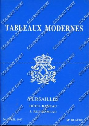 TABLEAUX MODERNES. [BRAYER. LUCE. BLOND. PAUL. DEVAL.: HOTEL RAMEAU
