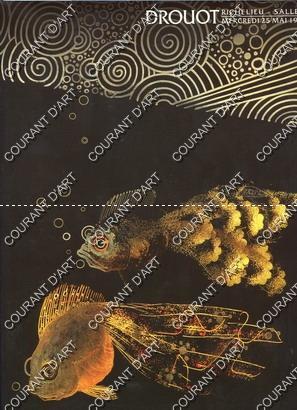 ART NOUVEAU ART DECO. TISSUS MAISON BIANCHINI-FERIER.: DROUOT RICHELIEU. SALLE