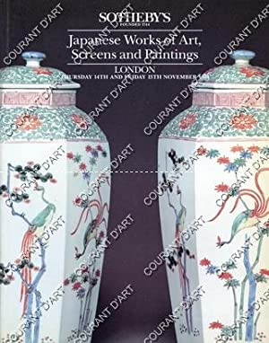 JAPANESE WORKS OF ART, SCREENS AND PAINTINGS.