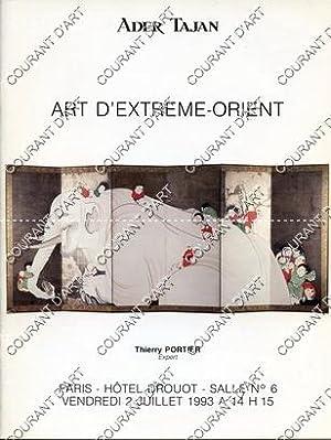 ART D'EXTREME-ORIENT. [KENDI MING. BOUTEILLE A SAKE: HOTEL DROUOT. SALLE