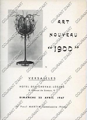 """ART NOUVEAU """"1900"""". VASES EN CERAMIQUE ET: HOTEL DES CHEVAU-LEGERS"""