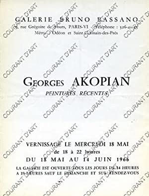 GEORGES AKOPIAN. PEINTURES RECENTES. 18/05/1966-14/06/1966. (Weight= 10 grams)