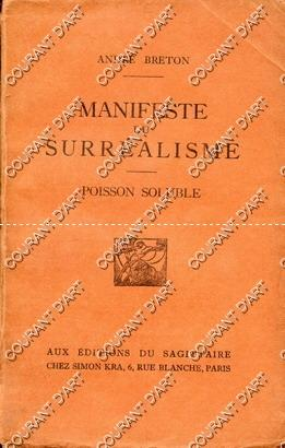MANIFESTE DU SURREALISME. POISSON SOLUBLE. (Weight= 192 grams): PAR ANDRE BRETON