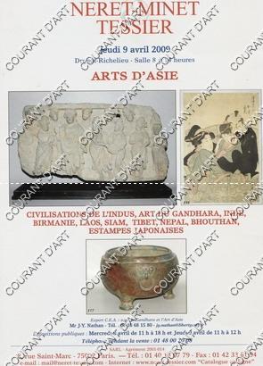 ARTS D' ASIE. CIVILISATIONS DE L'INDUS. ART: DROUOT RICHELIEU. SALLE