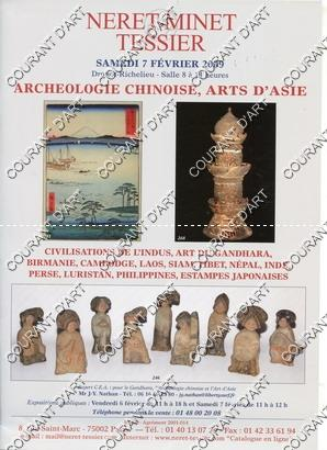 ARCHEOLOGIE CHINOISE. ARTS D'ASIE. CIVILISATIONS DE L': DROUOT RICHELIEU. SALLE