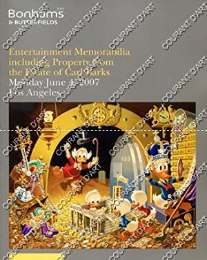 ENTERTAINMENT MEMORABILIA INCLUDING PROPERTY FROM THE ESTATE OF CARL BARKS. THE PERSONAL PROPERTY...