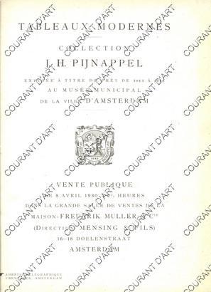 TABLEAUX MODERNES. COLLECTIONJ. H. PIJNAPPEL EXPOSEE AU: MAISON FREDERIK-MULLER &