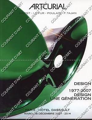 DESIGN. 1977-2007. DESIGN UNE GENERATION. [ MOUILLE.: HOTEL DASSAULT