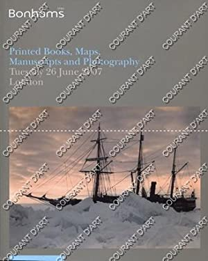 PRINTED BOOKS MAPS MANUSCRIPTS AND PHOTOGRAPHY. [CHURCHILL. CONRAD. COOKERY. DICKENS. FLEMING. HA...