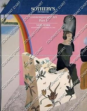 CONTEMPORARY ART. PART I. [TOBEY. FRANCIS. CALDER.: YORK AVENUE
