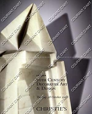 20th CENTURY DECORATIVE ART & DESIGN. [ GALLE. KISS. GRUBER. ARREDOLUCE. BUGATTI. SOTTSASS. ...