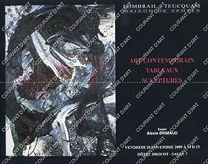 ART CONTEMPORAIN. TABLEAUX. SCULPTURES. [ALECHINSKY. ANDRE BEAUDIN.: DROUOT