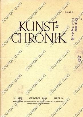 KUNST=CHRONIK. 18. JAHR. OKTOBER 1965. HEFT 10.: PAR LUDWIG H.