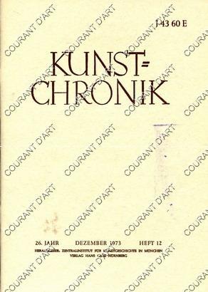 KUNST=CHRONIK. 26. JAHR. DEZEMBER 1973. HEFT 12.: PAR WALTER HAAS.