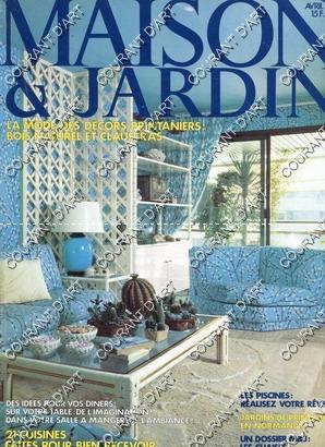 MAISON ET JARDIN. AVRIL 1980. N°262. MODE: PAR J.-P. PERSON.