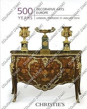 DECORATIVE ARTS EUROPE. 500 YEARS. [DECORATED MIRROR.