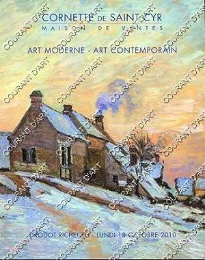 ART MODERNE. ART CONTEMPORAIN. COLLECTION DE MONSIER: DROUOT RICHELIEU. SALLE