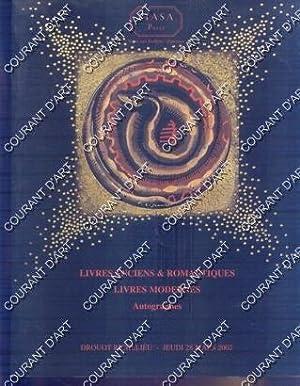 LIVRES ANCIENS ET ROMANTIQUES. LIVRES MODERNES. AUTOGRAPHES.: DROUOT RICHELIEU SALLE