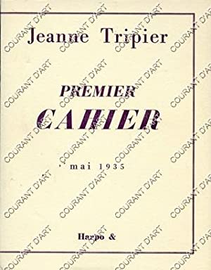 JEANNE TRIPIER. PREMIER CAHIER, DE L'ORDRE DES MESSAGES. MAI 1935. (Weight= 104 grams)