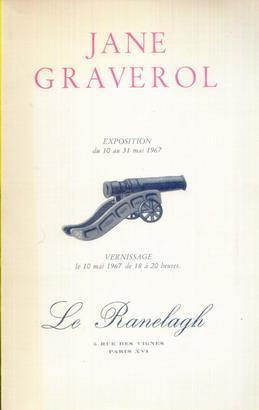 JANE GRAVEROL. EXPOSITION DU 10 AU 31: PAR PAUL NOUGE,