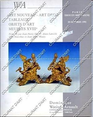 ART NOUVEAU. ART DECO. TABLEAUX. OBJETS D'ART.: DROUOT MONTAIGNE