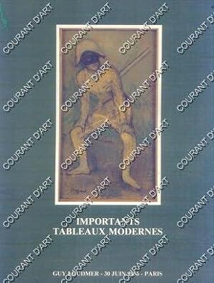 IMPORTANTS TABLEAUX MODERNES. SCULPTURES. [BALANDE. VICTOR HUGO.: NOUVEAU DROUOT. SALLE