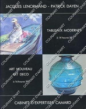 TABLEAUX MODERNES, ART NOUVEAU ET ART DECO.[: DROUOT RICHELIEU