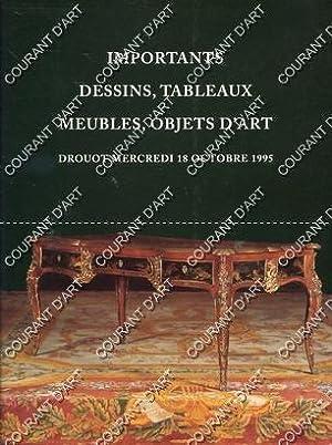 IMPORTANTS DESSINS, TABLEAUX, MEUBLES, OBJETS D'ART. TAPIS.: DROUOT. SALLES 1