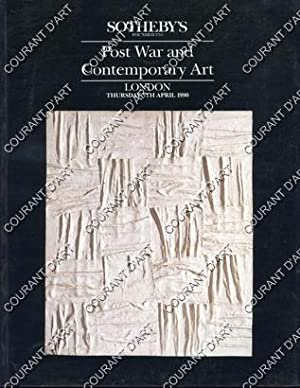 POST WAR AND CONTEMPORARY ART. [DUBUFFET. FAUTRIER. DE STAEL. ESTEVE. CALDER. APPEL. ESTEVE. MUSI...