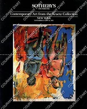 CONTEMPORARY ART FROM THE KRAETZ COLLECTION. [RICHIER. BASELITZ. PENCK. RICHTER. KNOEBEL. DARBOVE...